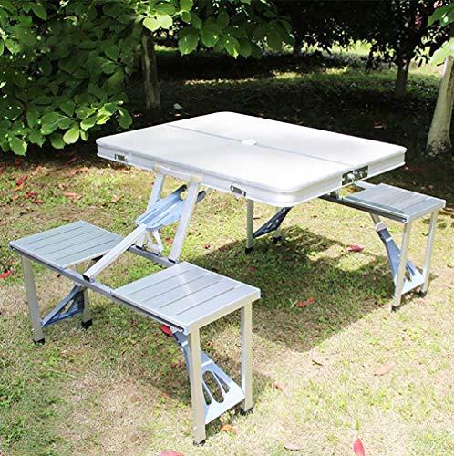 GUXINHOME Acampa Portable Plegable Mesa de jardín Sillas Taburetes Establecer Campo del jardín de Cocina al Aire Libre Barbacoa