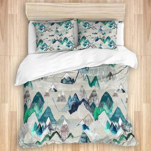 HUAYEXI Bettwäsche Set,Ruf der Berge,1 Bettbezug 240x260cm+2 Kopfkissenbezug 50x80cm