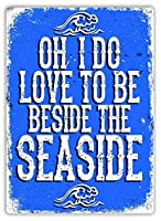 海辺のティンサイン壁鉄絵レトロプラークヴィンテージ金属シート装飾ポスター面白いポスターぶら下げ工芸品バーガレージカフェホーム