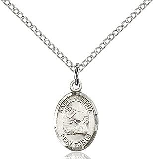 Sterling Silver Catholic Patron Saint Petite Charm Medal, 1/2 Inch