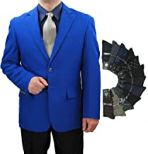 Sharp Hand Tailored Men 2B Dress Blazer w/1 Pair of Socks, Size 36S-56L