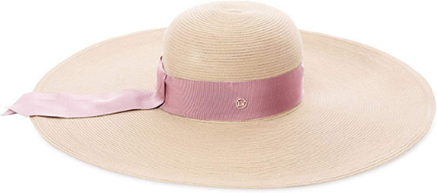 Natural Women's Hat Shade Straw Hat Hat Big Side Beach Hat Travel Sunscreen warm