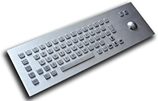 Front / Top Mounting - Standard 65 keys stainless keyboard - with trackball - USB interface - US layout