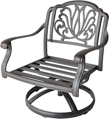 K&B PATIO LD777-211 Elizabeth Swivel Rocker, Antique Bronze