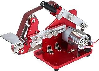 Leepesx Mini Belt Sander Machine Multifunction Bench Sander Belt Machine 60W Electronic Micro Sander Polisher Grinder Portable DIY M-775 Table Polishing Sanding Machine