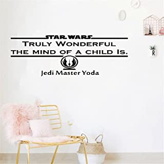 steriu Wall Sticker Removable Home Decor Wall Vinyl Decals Truly Wonderful The Mind of a Child is