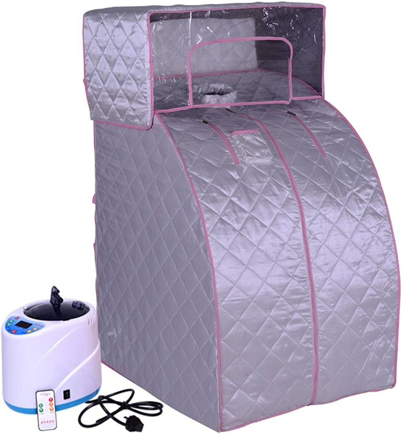 &Detoxification Portable Therapeutic Slimming Steam Sauna Spa Detox-Weight Loss lose weight ( color   Silver )
