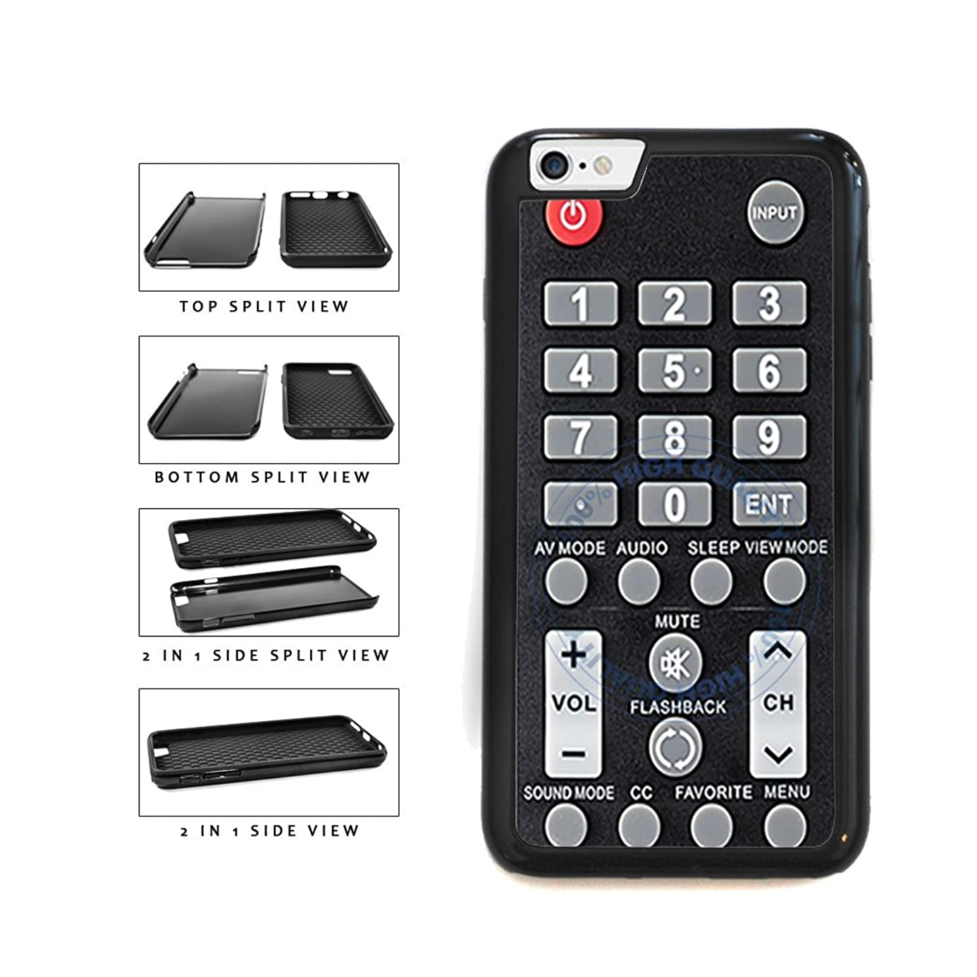 BleuReign(TM) Funny TV Remote Control 2-Piece Dual Layer Phone Case Back Cover For Apple iPhone 6 6s (4.7 Inches Screen) osa3913968