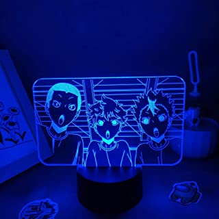 3D Night Light Haikyuu Anime Figure Hinata Shoyo Yu Nishinoya 3D Lamps LED Neon Night Light Birthday Gift Bedroom Bedside ...