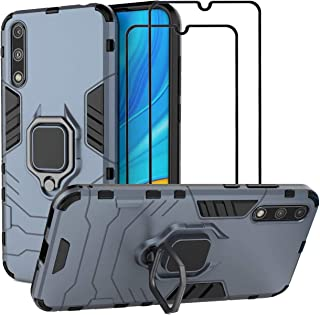 EasyLifeGo for Huawei Y8P 2020 / P Smart S/Enjoy 10S Kickstand Case with Tempered Glass Screen Protector [2 pieces], Hybri...