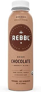 REBBL Super Herb Powered Elixirs | Reishi Chocolate Immunity Elixir 12 Pack | 12 Fl Oz | Gluten Free, Organic, Non GMO, Vegan