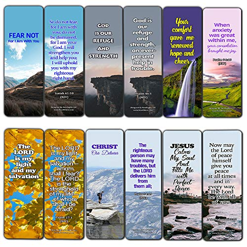 Powerful Bible Verses Bookmarks - God is in Control (30 Pack) - Handy Powerful Bible Verses About God is in Control Bible Texts