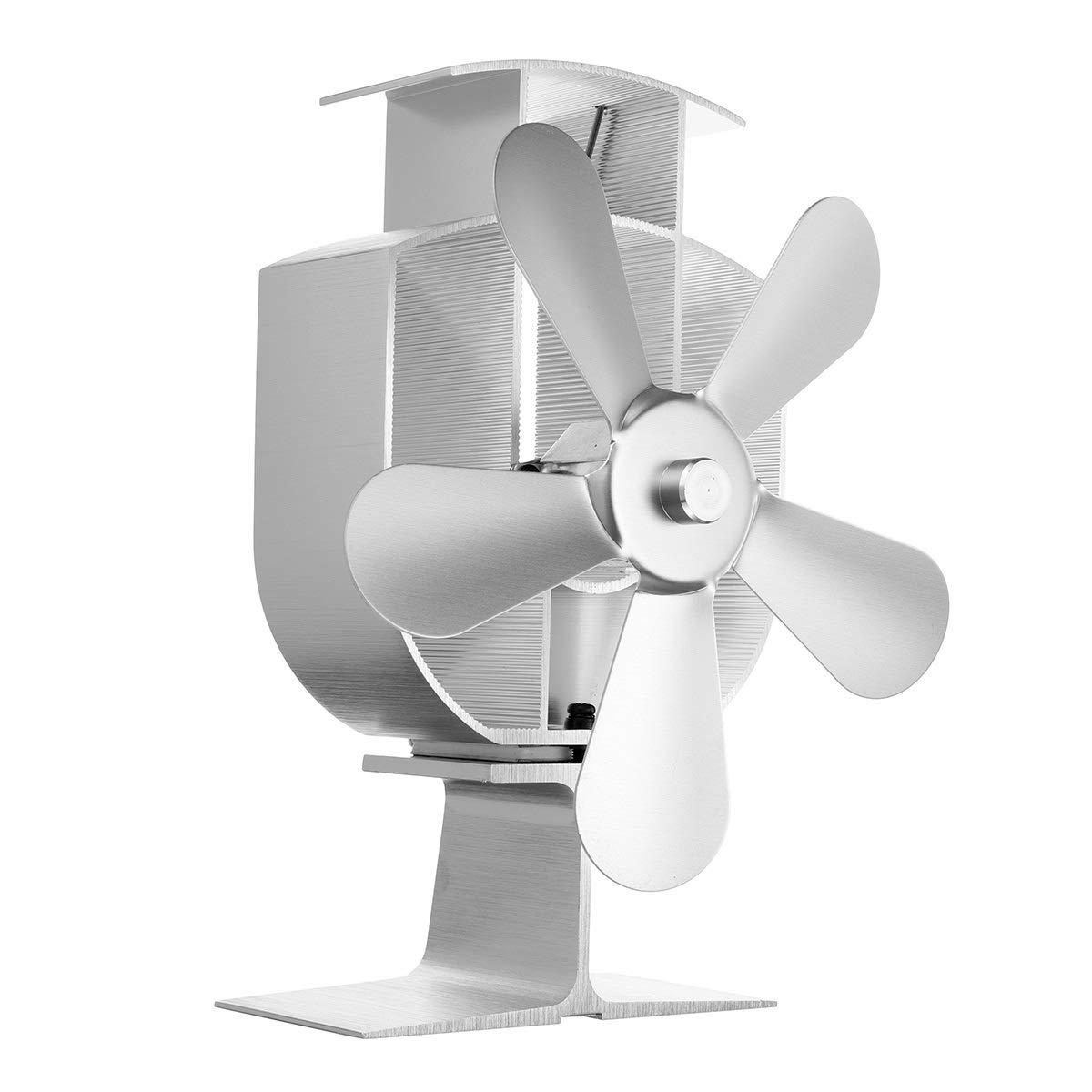 Estufas de leña Estufa Ventilador de 4 paletas del ventilador de ...