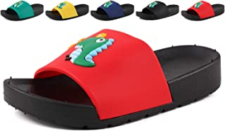 CINDEAR Boys Girls Slide Sandals, Outdoor Indoor Sandals Beach Water Flip Flop(Toddler/Little Kid)
