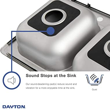 Elkay D233194 Dayton Equal Double Bowl Drop-in Stainless Steel Sink