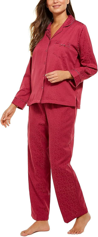 100% quality warranty Miss Cheap bargain Elaine Womens Jacquard Brushed Set Pajama Back Satin
