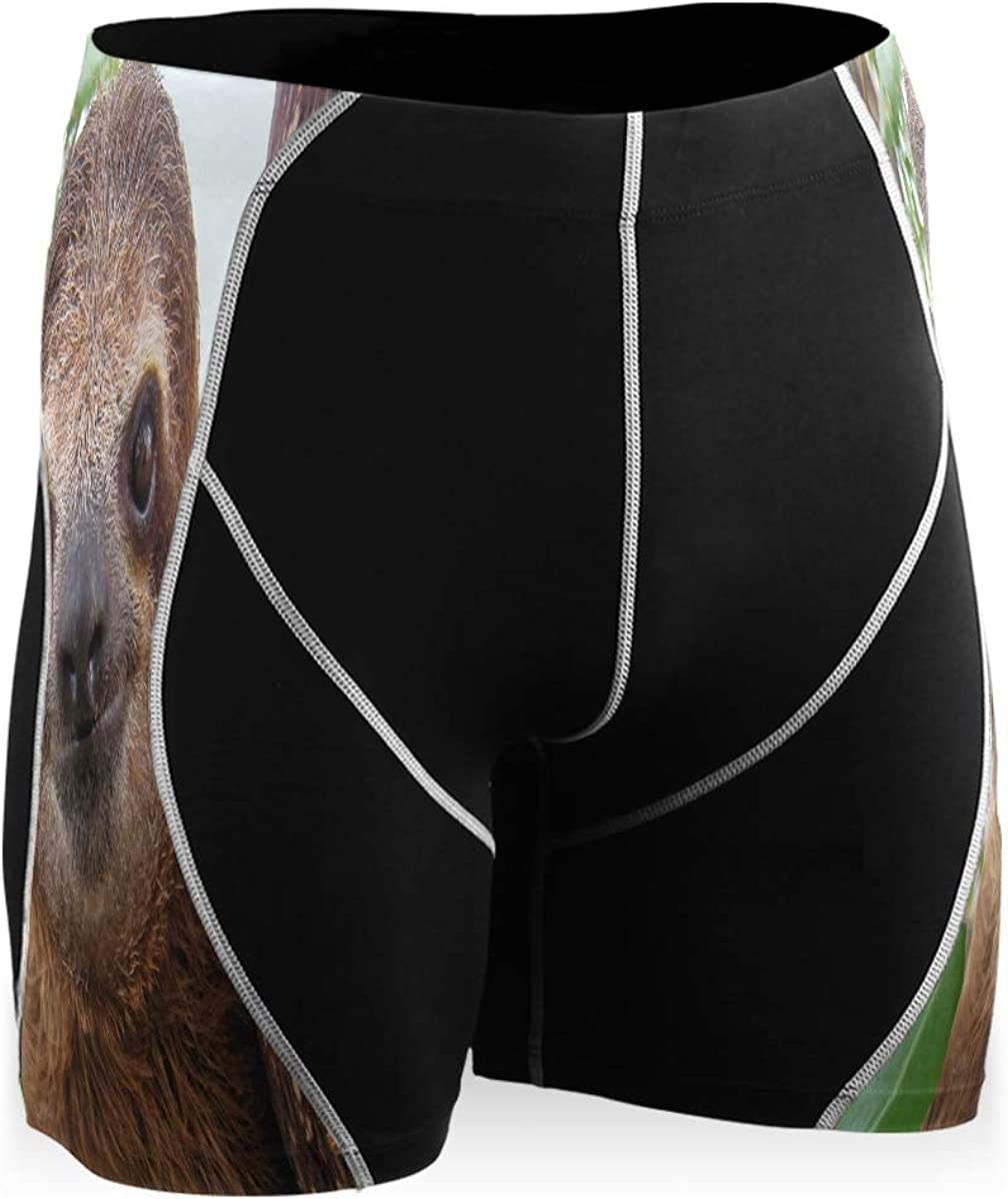 Ladninag Central Special Campaign America Cute Face Runni Free Shipping New Shorts Compression Mens