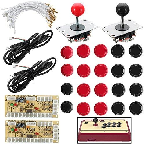 GOZAR Manette Push Bouton Zero Delay Arcade Game DIY Kit pour Mame