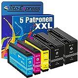 Tito-Express PlatinumSerie 5X Patrone XXL kompatibel mit HP 953XL OfficeJet Pro 7720 7730 7740WF 8210 8218 8710 8715 8718 8720 8725 8730 8740 | Black je 2.000 Seiten, Color je 1.600 Seiten