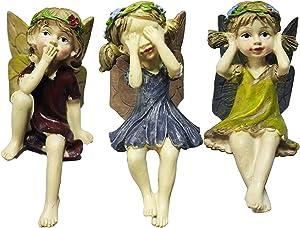 Miniature Garden Fairy Figurines Fairy Garden Fairies Accessories Small Ornaments Boy Girl Enchanted Garden Fairies