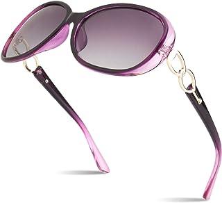 435e747fb0 SUNIER Luxury Women Polarized Sunglasses Retro Eyewear Oversized Goggles  100% UV