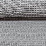 Die Stofftante / Waffelpique/Nelson/grau / 0,5 m x 152