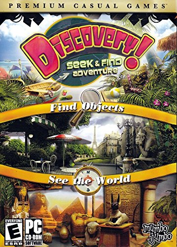 Discovery! A Seek and Find Adventure: Find Objects, See the World (Premium Casual Games) (PC CD-ROM) (Windows 2000, XP, Vista)