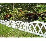 Worth Garden Plastic Fence Pickets Indoor Outdoor...