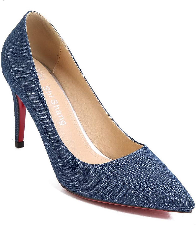 AdeeSu Womens Comfort Solid Glitter Urethane Pumps shoes SDC05877