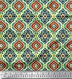 Soimoi Verde muschio georgette tessuto ogee damasco tessuto stampato da cucito dal metro 42 pollici larghi