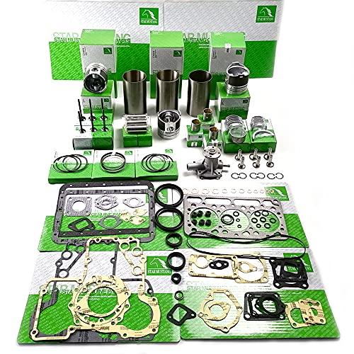 STAR MUSTANG Kit de Piezas de Reacondicionamiento del Motor D950 Pistón 15532-21110 Cilindro Trazador de Líneas 15531-02310 Motor para Cortacésped Excavadora de Tractor Kubota