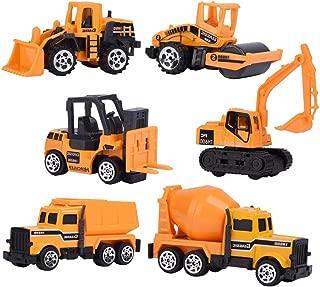LW 6 Pcs Mini Construction Vehicles Car Toy Miniature Figurine Toys, Cake Toppers, Cake Decoration
