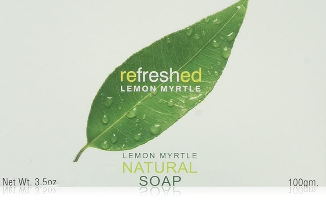 元気有能なトレーダーLemon Myrtle Natural Soap - 3.5 oz by Tea Tree Therapy