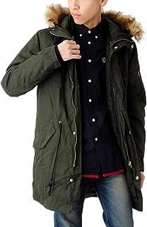 (ベストマート)BestMart インナー 脱着可能 フードファー 付き モッズコート メンズ ジャケット 624379