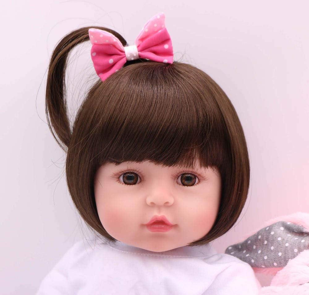 24 Pinky Reborn Baby Doll Ni/ña Realista 24 Pulgadas 61cm or 18 Pulgadas 45cm Hermosa Mu/ñeca Silicona Hecho a Mano Bebe Reborn Toddler Recien Nacido
