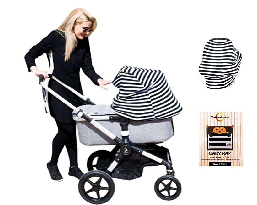 Baby Rap Nursing Breastfeeding Maternity Cover – Baby Shower Gift Set - Stroller Cover - Shopping Cart & High Chair Cover – Car Seat Canopy – Multi Use Infinity Shawl Scarf Poncho-Lightweight Blanket