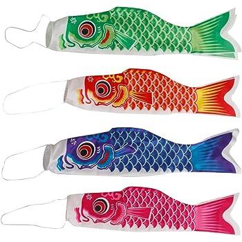 4 Pcs 150 cm Japonais Carpe Drapeau Koinobori Fish Streamer Mur Décor Garçon