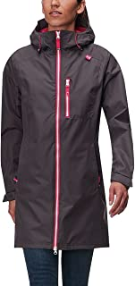 Helly Hansen Women's Long Belfast Lightweight Waterproof Windproof Breathable Raincoat Jacket with Hood