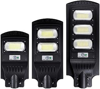 BBZZ Lampe solaire d'extérieur étanche 300/600/900 W 150/300/450 LED Détecteur de mouvement PIR Lampe murale d'extérieur +...