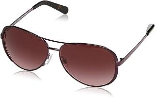 نظارات شمسية نسائية تشيلسي 11588H 59 من مايكل كورس، اللون الارجواني/تدرجات الخمري