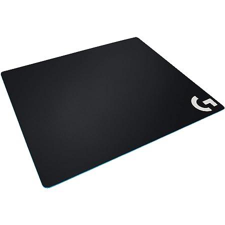 Logitech G640 Tappetino Mouse Gaming Grande in Tessuto, Mouse Pad 460 x 400 mm, Spessore 3 mm, Attrito Moderato, Superficie Uniforme, Base in Gomma Stabile e Confortevole, Arrotolabile - Nero