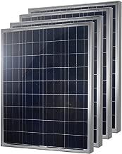 HQST 100 Watt 12 Volt Polycrystalline Solar Panel (4 Pieces)