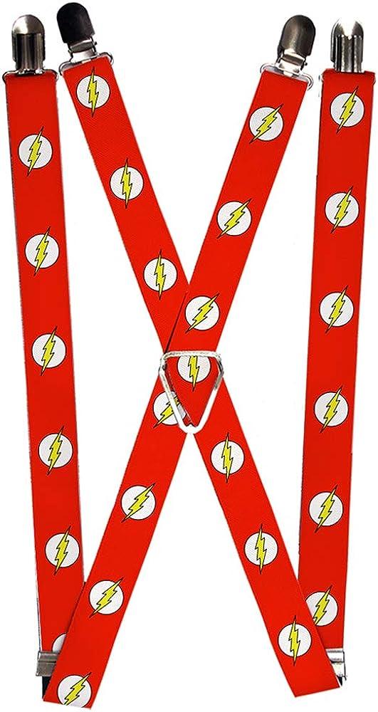 Buckle-Down Men's Suspender-The Flash, 3.5