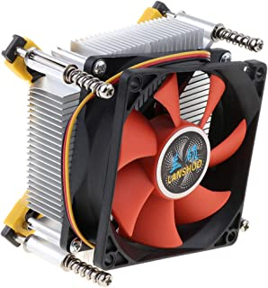 kesoto CPU Cooling Fan Heatsink Kit with Fins for Desktop Computer Cooler Accessory 3Pin 12V 2200Rpm 48Cfm, Aluminum