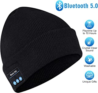 HIGHEVER Bluetooth Beanie,Bluetooth 5.0 Beanie hat with Detachable Built-in Mic and HD Stereo Speakers for Music Lover Unique Unisex Gifts for Men/Women/Teens/Boys/Girls