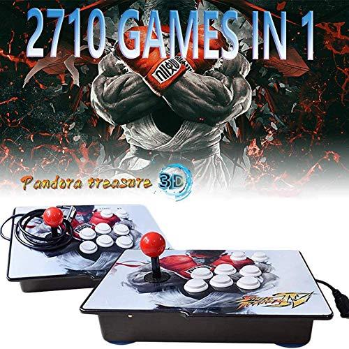 3D Pandora's Box TV-Spielekonsolen Home Arcade Game Console Videoautomat Classic, 2 Spieler, 1280x720 Full HD Multiplayer, 4000 Spiele All in 1 Double Stick Buttons Power HDMI, ZQ-4171609