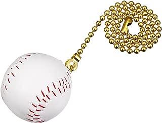 uxcell 12 inch Copper Pull Chain White Baseball Pendant for Ceiling Lighting Fans