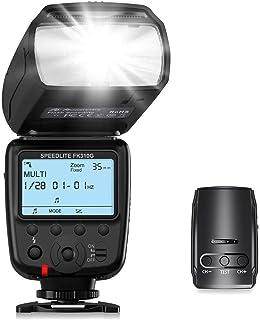Powerextra Pantalla LCD Flash Speedlite 2.4G Kit de Transmisor de Disparador de Flash Inalámbrico para Canon Nikon Pentax Panasonic Olympus y Sony DSLR Cámara Cámaras Digitales con Zapata Estándar