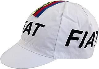 Eddy Merckx Fiat World Champion Cycling Cap - White With Rainbow Bands/Stripes