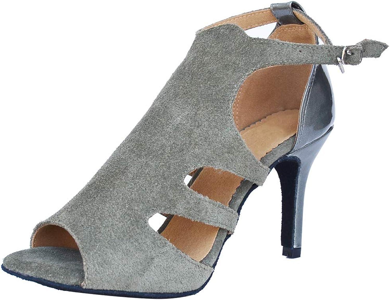 Womens Peep Toe Sexy Salsa Professional Latin shoes Ballroom Social Tango 0047